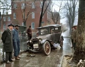Batida de automóvel, Washington D.C, 1921