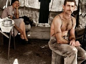 Lenhador desempregado, por volta de 1939