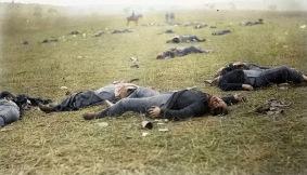 Fotografia que eterniza a fragilidade humana, tirada na Batalha de Gettysburg, em 1863