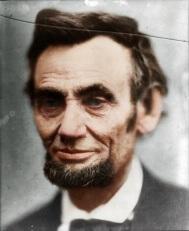 Último retrato tirado em vida de Abraham Lincoln, por Alexander Gardner (1865)