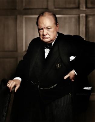 Winston Churchill imortalizado por Yousuf Karsh (1941)