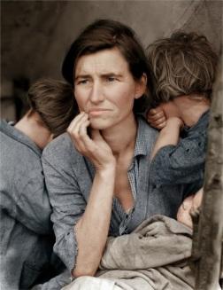 Retrato de una mãe imigrante em 1936, por Dorothea Lange