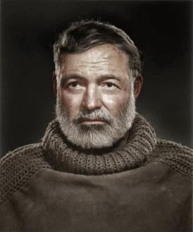 Retrato de Ernest Hemingway, por Yousuf Karsh (1957)