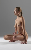 Yoga Floating Lotus Pose, aka Earning Pose