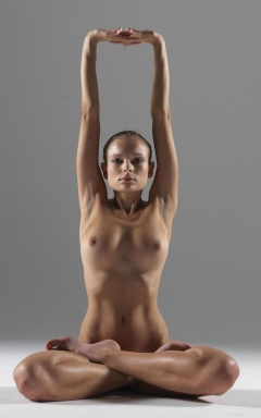 Yoga Full Lotus Pose w Arm Stretch