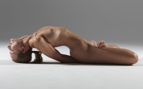 Yoga opening up the chest stretch