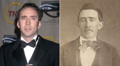 Nicolas Cage (ator) e um homem em 1870