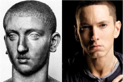 Alexandre Severo (Imperador da Dinastia dos Severos) e Eminem (rapper)