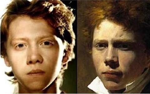 Rupert Grint (ator) e Sir David Wilkie (artista plástico dos Séculos XVIII e XIX)