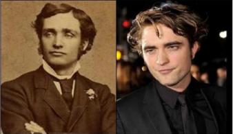 Um rapaz de uma foto antiga e Robert Pattison (ator)