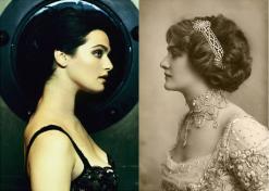 Rachel Weisz (atriz) e Miss Lily Elsie (atriz e cantora do começo do século passado)