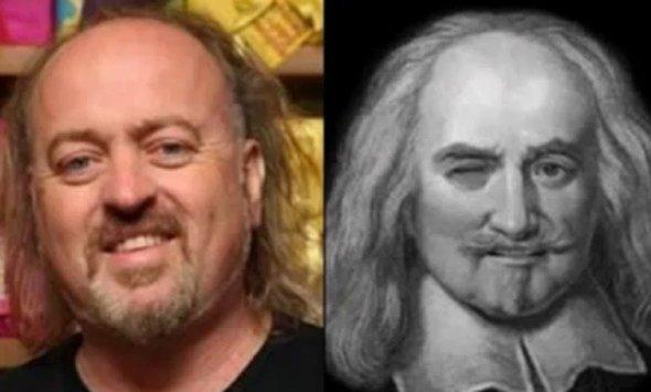 Bill Bailey (comediante norte-americano) e Thomas Hobbes (filósofo inglês nos Séculos XVI e XVII)