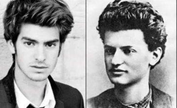 Andrew Garfield (ator norte-americano) e Leon Trotsky (revolucionário bolchevique)