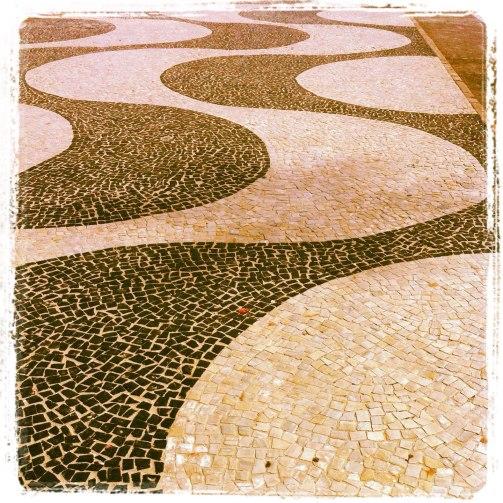 Detalhe Calçadão de Copacabana