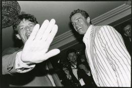 Mick Jagger e Arnold Schwarzenegger, Hôtel du Cap, Antibes (França), 1990