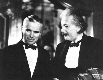 Charlie Chaplin e Albert Einstein