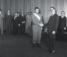 Jânio Quadros recebe Che Guevara em 1961