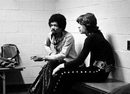 Jimi Hendrix e Mick Jagger, 1969