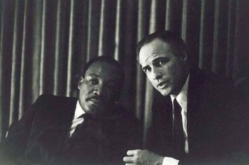 Martin Luther King Jr. e Marlon Brando