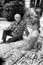 Pablo Picasso e Brigitte Bardot, em 1956