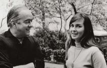 Vinícius de Moraes com a garota de Ipanema, Helô Pinheiro
